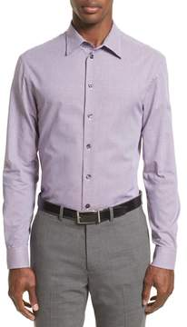 Armani Collezioni Regular Fit Houndstooth Sport Shirt