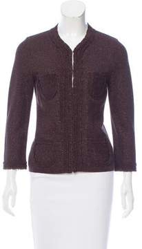 Andrew Gn Metallic-Accented Heavyweight Cardigan