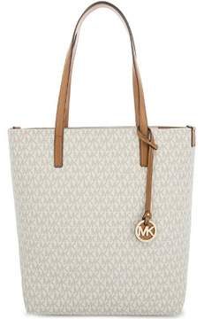 Michael Kors Hayley Large North South Top Zip Tote - Vanilla/Acorn - 30S7GH3T3V-149 - VANILLA/ACORN - STYLE