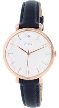 Fossil Women's Jacqueline ES3864 Blue Leather Quartz Dress Watch