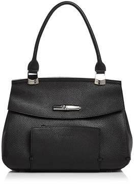 Longchamp Madeleine Leather Shoulder Bag - BLACK/GUNMETAL - STYLE