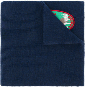 DSQUARED2 patch embroidered scarf