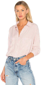 1 STATE Patch Pocket High Low Blouse