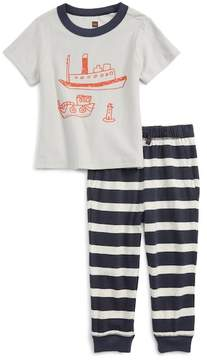 Tea Collection Plockton Graphic T-Shirt & Pants Set (Baby Boys & Toddler)