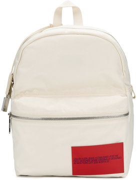 Calvin Klein 205W39nyc logo patch backpack