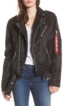 Alpha Industries Women's Outlaw Asymmetrical Biker Jacket