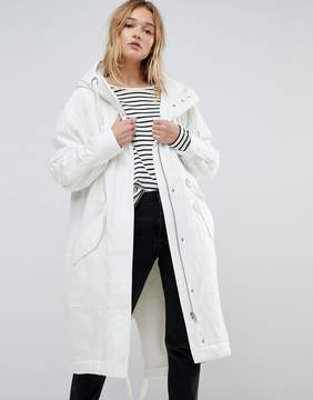 Asos Washed Parka with Fleece Lining
