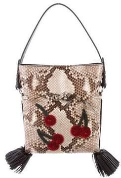 Altuzarra Ghianda Small Bucket Python Crossbody Bag