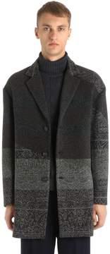 Antonio Marras Wool Blend Jacquard Coat