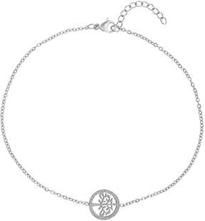 Bliss Stainless Steel Tree of Life Single-Charm Anklet