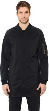 Fc Nylon Long Bomber Jacket