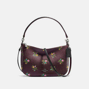 COACH Coach Chelsea Crossbody With Cross Stitch Floral Print - DARK GUNMETAL/OXBLOOD CROSS STITCH FLOR - STYLE
