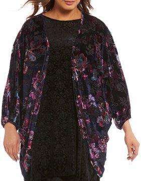 Chelsea & Theodore Plus Velvet Kimono