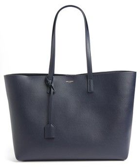 Saint Laurent 'Shopping' Leather Tote - Blue - BEIGE - STYLE