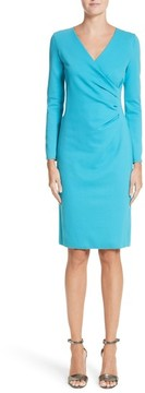 Emporio Armani Women's Faux Wrap Side Pleat Dress