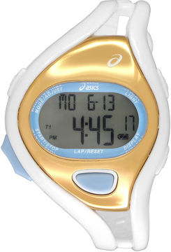 Asics White/Gold Ar05 Runner Unisex Multicolor Strap Watch-Cqar0512y