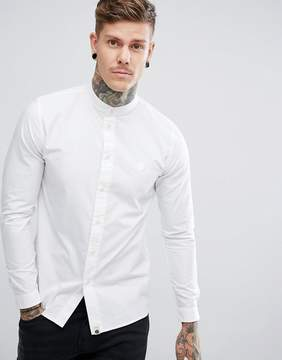Pretty Green Oakwood Long Sleeve Shirt In White