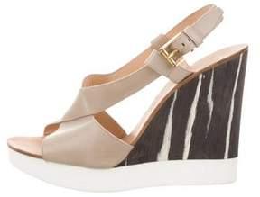 Jil Sander Leather Crossover Sandals