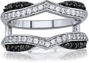 Black Diamond MODERN BRIDE 5/8 CT. T.W. White & Color-Enhanced Chevron Ring Wrap