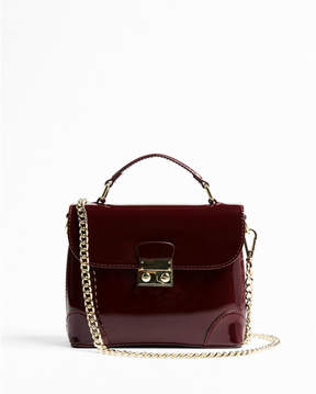 Express top handle patent cross body bag