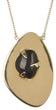 Soko Astra Prong Set Black Horn Double Pendant Necklace