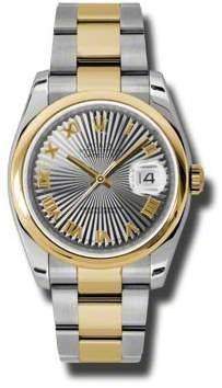 Rolex Datejust 36 Grey Dial Stainless Steel and 18K Yellow Gold Oyster Bracelet Automatic Men's Watch