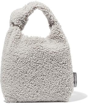 Loeffler Randall Knot Mini Shearling Tote - Light gray