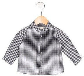 Bonpoint Boys' Gingham Button-Up Shirt