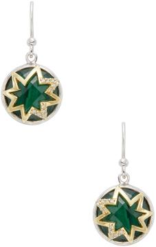 Elizabeth Showers Women's Small Hope Star Decoder 18K Yellow Gold, Malachite & 0.10 Total Ct. Diamond Earrings