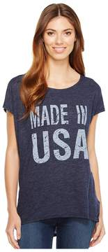 Allen Allen Made in USA Cap Sleeve Tee Women's T Shirt