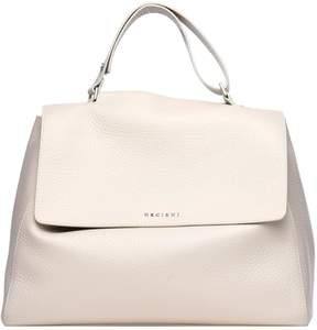 Orciani White Soft Leather Sveva Bag
