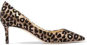 Jimmy Choo Romy 60 Leopard-print Devoré-satin Pumps - Leopard print