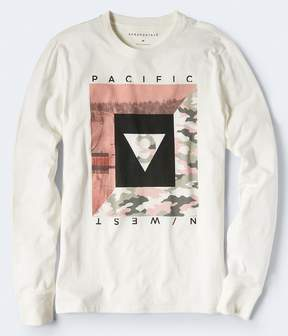 Aeropostale Long Sleeve Pacific N West Graphic Tee