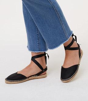 LOFT Ankle Tie Espadrille Flats