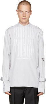 J.W.Anderson White Striped Bib Shirt