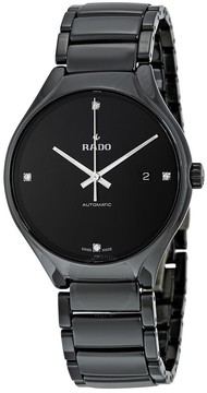 Rado True Automatic Black Dial Black Ceramic Men's Watch