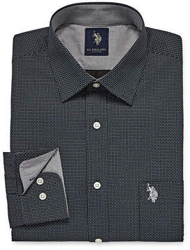 U.S. Polo Assn. USPA Long Sleeve Geometric Dress Shirt - Slim