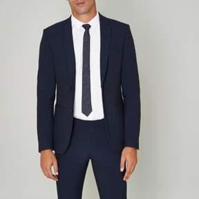 River Island Mens Blue super skinny suit jacket