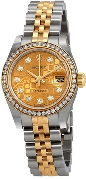 Rolex Oyster Perpetual Champagne Jubilee Diamond Automatic Ladies Watch