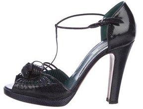 Moschino Patent Leather Peep-Toe Pumps