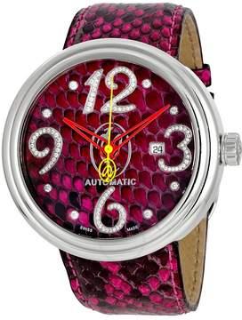 Jacob & co Valentin Yudashkin Fuchsia Python Automatic Diamond Men's Watch