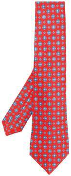 Kiton pattern print tie