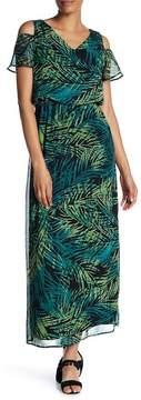 Nine West Cold Shoulder Maxi Dress