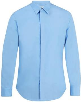 Maison Margiela Point-collar cotton-poplin shirt