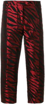 Alberto Biani striped jacquard trousers