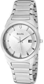 Bulova Men's Stainless Steel Bracelet Watch 38mm 96B015
