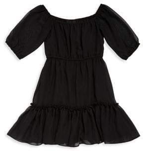 Un Deux Trois Girl's Chiffon Peasant Dress