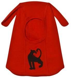 Mini Rodini Red Panther Wool Balaclava