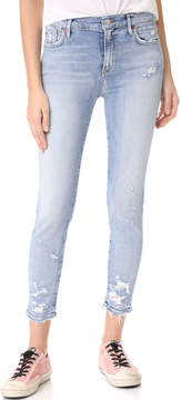 A Gold E AGOLDE Sophie High Rise Crop Skinny Jeans