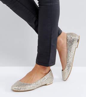 Call it SPRING Fibocchi Gold Heel Detail Flat Shoes